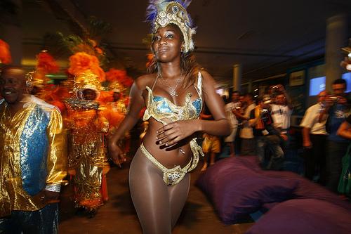 Rainha da bateria Roberta Kelly da escola de samba Nenê da Vila Matilde